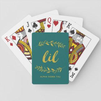 Alpha Sigma Tau Lil Wreath Playing Cards