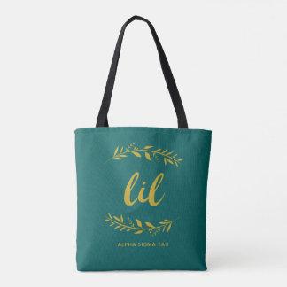 Alpha Sigma Tau Lil Wreath Tote Bag