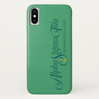 Alpha Sigma Tau Logo 2 iPhone X Case