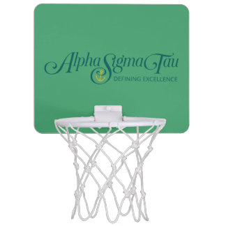 Alpha Sigma Tau Logo 2 Mini Basketball Hoop