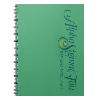 Alpha Sigma Tau Logo 2 Notebook