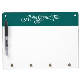 Alpha Sigma Tau Logo No Tagline 2 Dry Erase White Board
