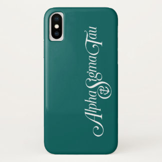 Alpha Sigma Tau Logo No Tagline 2 iPhone X Case