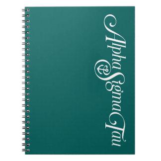 Alpha Sigma Tau Logo No Tagline 2 Notebook