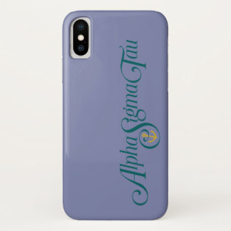 Alpha Sigma Tau Logo No Tagline iPhone X Case