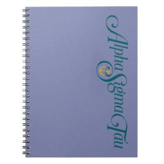Alpha Sigma Tau Logo No Tagline Notebook
