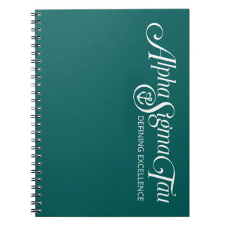 Alpha Sigma Tau Logo Notebook