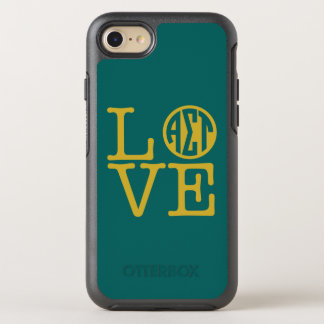 Alpha Sigma Tau Love OtterBox Symmetry iPhone 8/7 Case