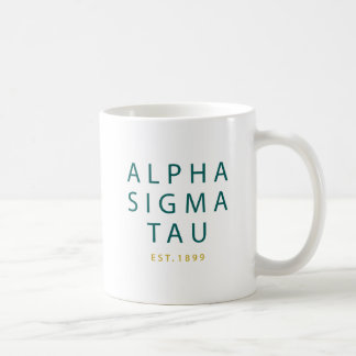 Alpha Sigma Tau Modern Type Coffee Mug