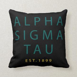 Alpha Sigma Tau Modern Type Cushion