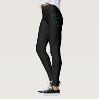 Alpha Sigma Tau Modern Type Leggings