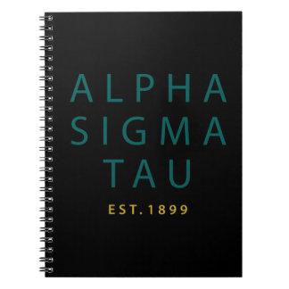 Alpha Sigma Tau Modern Type Notebook