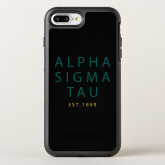 Alpha Sigma Tau Modern Type OtterBox Symmetry iPhone 8 Plus/7 Plus Case