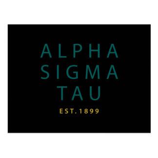 Alpha Sigma Tau Modern Type Postcard