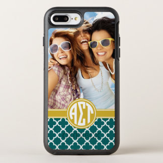 Alpha Sigma Tau | Monogram and Photo OtterBox Symmetry iPhone 8 Plus/7 Plus Case