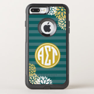 Alpha Sigma Tau | Monogram Stripe Pattern OtterBox Commuter iPhone 8 Plus/7 Plus Case