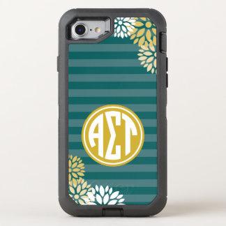 Alpha Sigma Tau | Monogram Stripe Pattern OtterBox Defender iPhone 8/7 Case