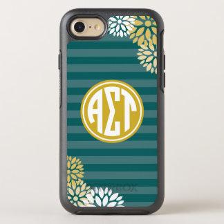 Alpha Sigma Tau | Monogram Stripe Pattern OtterBox Symmetry iPhone 8/7 Case