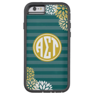 Alpha Sigma Tau | Monogram Stripe Pattern Tough Xtreme iPhone 6 Case
