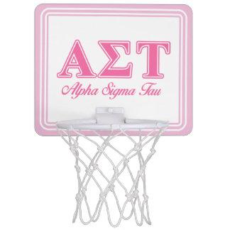 Alpha Sigma Tau Pink Letters Mini Basketball Hoop