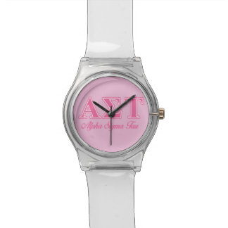 Alpha Sigma Tau Pink Letters Watch