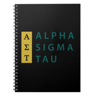 Alpha Sigma Tau Stacked Notebook