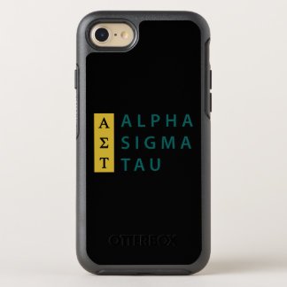Alpha Sigma Tau Stacked OtterBox Symmetry iPhone 8/7 Case