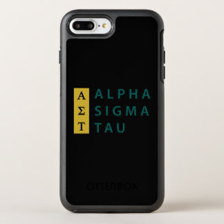 Alpha Sigma Tau Stacked OtterBox Symmetry iPhone 8 Plus/7 Plus Case