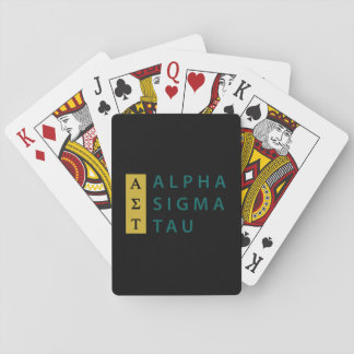Alpha Sigma Tau Stacked Playing Cards