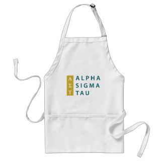 Alpha Sigma Tau Stacked Standard Apron