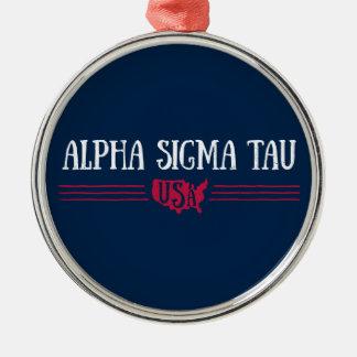 Alpha Sigma Tau USA Christmas Ornament