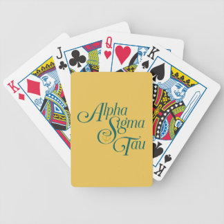 Alpha Sigma Tau Vertical Mark 2 Bicycle Playing Cards