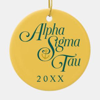 Alpha Sigma Tau Vertical Mark 2 Christmas Ornament