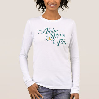 Alpha Sigma Tau Vertical Mark 2 Long Sleeve T-Shirt