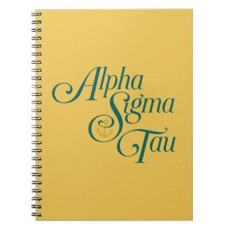Alpha Sigma Tau Vertical Mark 2 Notebook