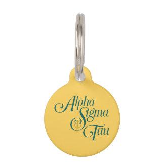 Alpha Sigma Tau Vertical Mark 2 Pet Name Tag