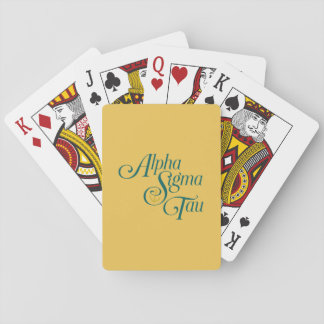 Alpha Sigma Tau Vertical Mark 2 Playing Cards