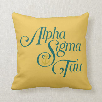 Alpha Sigma Tau Vertical Mark 2 Throw Pillow
