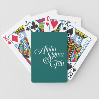 Alpha Sigma Tau Vertical Mark Bicycle Playing Cards