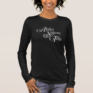Alpha Sigma Tau Vertical Mark Long Sleeve T-Shirt