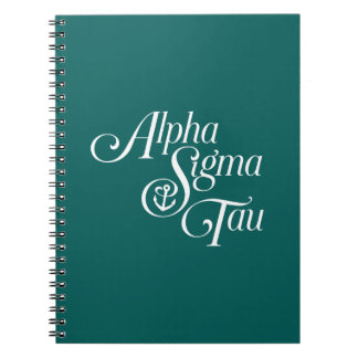 Alpha Sigma Tau Vertical Mark Note Book