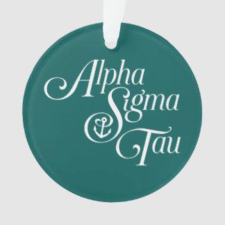 Alpha Sigma Tau Vertical Mark Ornament