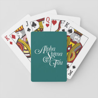 Alpha Sigma Tau Vertical Mark Playing Cards
