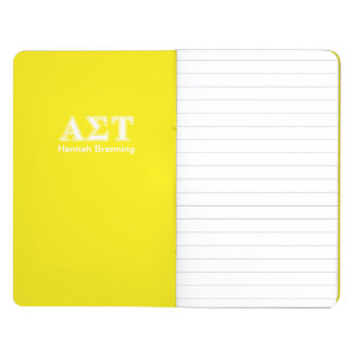 Alpha Sigma Tau White and Yellow Letters Journal