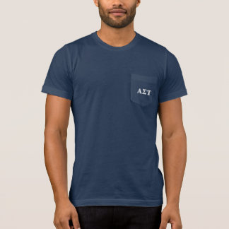Alpha Sigma Tau White and Yellow Letters T-Shirt