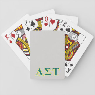 Alpha Sigma Tau Yellow and Green Letters Playing Cards