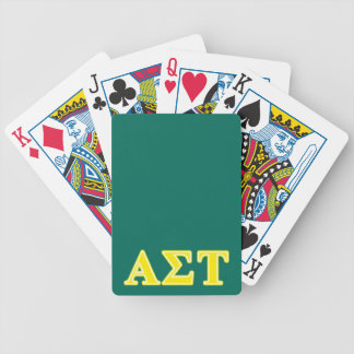 Alpha Sigma Tau Yellow Letters Bicycle Playing Cards