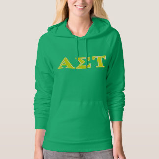 Alpha Sigma Tau Yellow Letters Hoodie