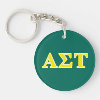 Alpha Sigma Tau Yellow Letters Key Ring