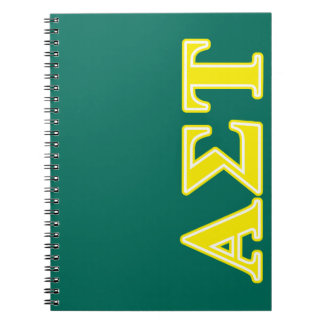 Alpha Sigma Tau Yellow Letters Notebook